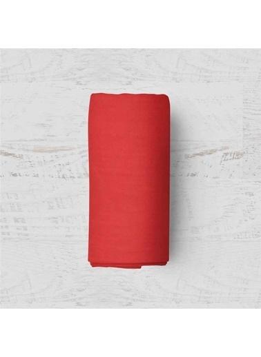 Maki Kırmızı 180x200 Battal Boy Lastikli Çarşaf Takımı Kırmızı